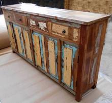 Reclaimed outdoor Furniture 4 drawers 6 panel door buffet