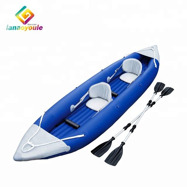 LANAO جديد تصميم عالية الجودة pvc الترفيه العائلي معدات المياه تعويم لعب التجديف قارب نفخ كاياك