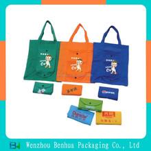 Reusable folding nonwoven hand bags for women