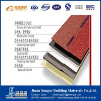 ISO9001:2008 Approved SGB Double Layer Asphalt Roofing Shingle