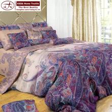 Fabricación de China egipcio comfort 4 unidades set set sábana 3d impreso floral de algodón sábana conjunto