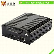 Profesional 3G HDD y SD Card Car DVR móvil con 4 canales de vídeo KD-8000