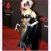 first night dress for women leather wedding dress black