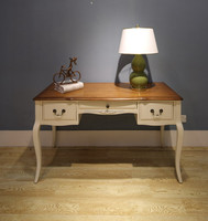 french style solid wood dressing writing table desk