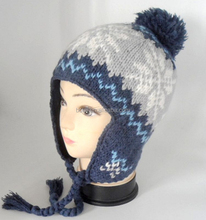 2015 Lovely Kid Knitted Earflap Hat hats cheap imported from china