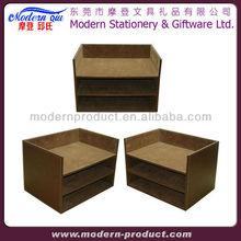 cardboard desk file organizer document tray