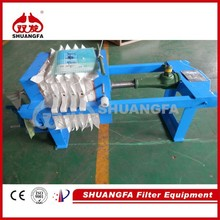 Simple Manual Operation Laboratory Chamber Filter Press With Small Size And Best Price