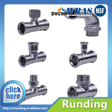 Iovesteel DN50 press fit carbon stainless steel single press fittings