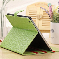 China custom leather case for ipad air 2 with high quality