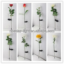 Garden hot sell solar rose flower light for landscape