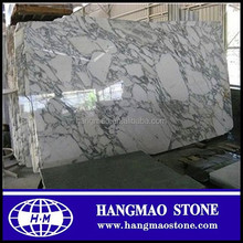 Arabescato Marble Slabs With White And Grey Colors