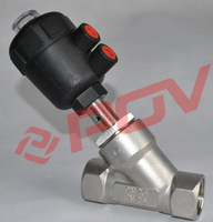 11/4 inch thread y type high quality angle seat valve