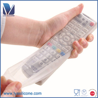 High transparent silicone rubber remote control cover golden supplier OEM remote control protective skin cover