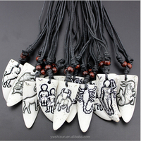 new products 2016 fashion jewelry 2015 custume jewelry zodiac tattoo chinese zodiac charms tibetan horn pendant