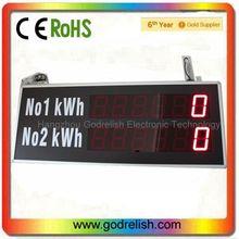 led de alta calidad de la línea de producción de tablero de led 6 contador digital de dos líneas