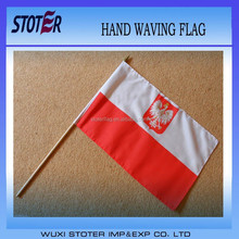 Large Hand Waving Courtesy Flag - Poland Polish State Eagle