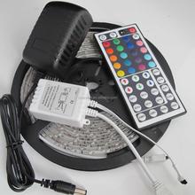 Waterproof 5M 3528 RGB 300led Light Stripfor XMAS Party +2A power +44Key remote