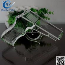 2015 new fashion clear antique crystal gun model