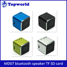 2015 Fashion Portable MD07 Speaker Music FM Radio Support Read TF Card Mini Bluetooth Speaker