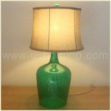 mesa de vidrio botella de lámparas