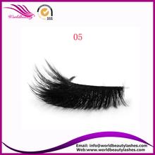 wholesale false eyelash pack 3D synthetic mink strip lashes for sale