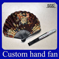 OEM printing promotion Chinese bamboo hand fan ribs