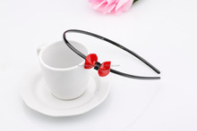 fashion Korea / Japanese style Kids Cute two level / layer flowers Hair band With resin candy colorful rhinestone headband