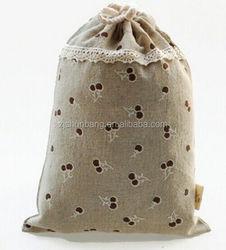 custom cotton drawstring bag/ cotton bag shopping bag canvas tote bag/ custom logo printed greige cotton bags