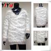 V neck stripe pattern shaggy warm shrug ladies knitting pullover