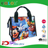 handled waterproof small pp woven bag, pp shopping bag wholesale