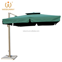 4x4m Deluxe Wholesale Large Outdoor Solar Umbrella With LED Light