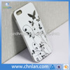 Butterfly design IMD technology cell phone hard case for Iphone 5s 5