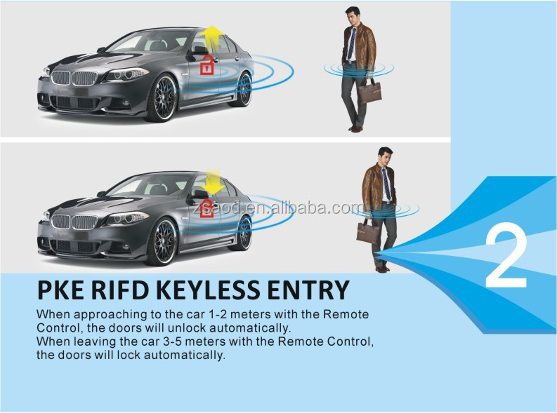 Gsm Intelligent Car Alarm Systems Remote Engine Start Pke Keyless ...