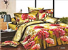 luxury european latest floral designs jacquard printed king size 3d bedding 300tc bed sheet
