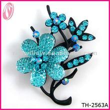 2013 trendy crystal flower brooch