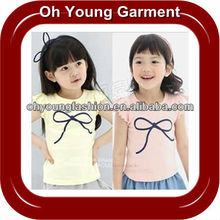 Wholesale Fashion Pure 100% Cotton Short Sleeve Round Neck Printed Tshirt For Baby