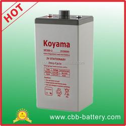Factory price deep cycle inverter battery 2V 300ah AGM tech VRLA battery