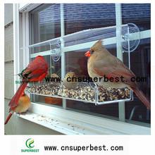 ODM / POEM Simple and Clear Transparent Acrylic Sucker Window Bird Feeders