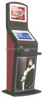 dual touch screen bill payment kiosk with cash acceptor coin acceptor, self service information payment kiosk terminal