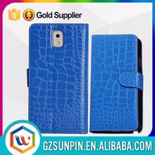 portfolio phone crocodile skin couple case for samsung galaxy note 3