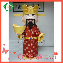 HI Hot God of fortune mascot costume/Carnival costume on activity