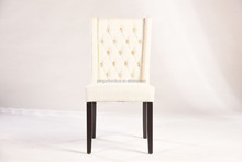 White Fabric High Back Wooden Dining Chair(YJ-8029)