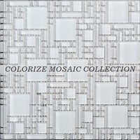 Colorize hot selling super white crystal glass mosaic tile for wall (CM011)