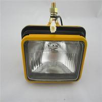 Yellow Iron Square Lamp For Excavator Light