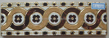 A301583 first choice 300x60mm foshan factory golden and polished ceramic border tile