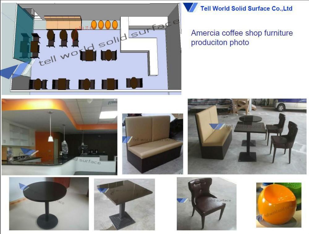 Diseño moderno diseño italiano cafetería mesa y silla mesa de ...