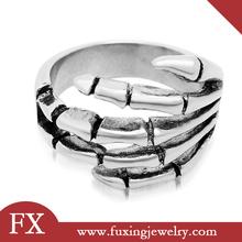 nuevo producto 2014 de acero inoxidable de regalo para hombres anillo de plata