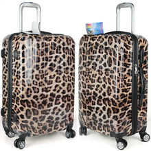 camouflage abs+PC leopard print trolley luggage trolley for kids