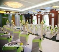 wedding chair sash organza ,organza chair ribbon