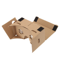 cellphone 3D virtual reality movies and games viewer custom logo and pattern google cardboard vr box